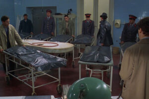 Citizen X 1995 Movie Eight bodies wheeled in the mortuary