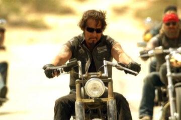 Hell Ride 2008 Movie Scene Larry Bishop as Pistolero riding his motorbike