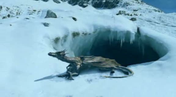 Dragon's World: A Fantasy Made Real aka The Last Dragon [2004] Movie A small dragon crawling on the ice