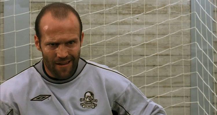 Mean Machine 2001 Movie Jason Statham as Monk in his kit as a goal keeper