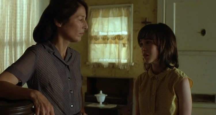 An American Crime 2007 Movie Catherine Keener looking at Ellen Page as she's about to start beating her scene