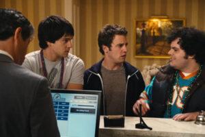 Mardi Gras Spring Break 2011 Movie Nicholas D'Agosto, Josh Gad and Bret Harrison checking in the hotel