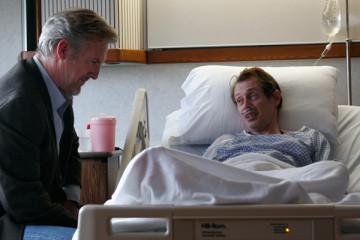Handsome Harry 2009 Scene Jamey Sheridan as Harry Sweeney visiting Steve Buscemi as Thomas Kelley in hospital