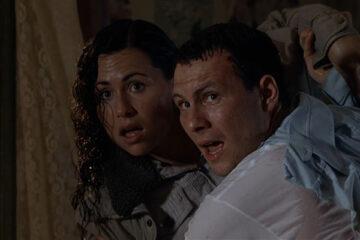 Hard Rain 1998 Movie Scene Christian Slater and Minnie Driver