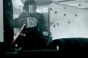 L Assaut AKA The Assault 2010 Movie Two members of GIGN, the elite counter-terrorism unit of the French National Gendarmerie returning fire aboard the airplane