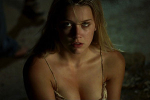 All the Boys Love Mandy Lane 2006 Movie Amber Heard looking at the roof with her cleavage showing