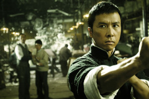 Yip Man 2008 Movie Donnie Yen as IP Man working in a factory but getting ready for a fight with Japanese occupying forces scene