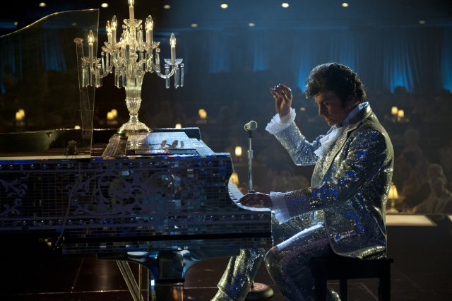 Behind the Candelabra [2013] Movie Michael Douglas as Liberace on stage playing piano
