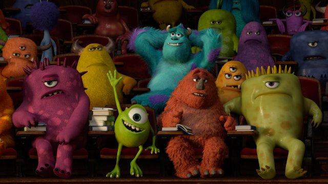 Monsters University [2013] Movie Various Monsters attending class scene