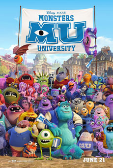 Monsters University 2013 Poster