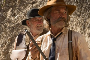 Bone Tomahawk 2015 Kurt Russell as Sheriff Hunt and Richard Jenkins as Chicory waiting in ambush scene