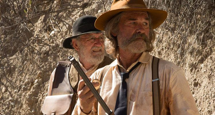 Bone Tomahawk 2015 Kurt Russell as Sheriff Hunt and Richard Jenkins as Chicory waiting in ambush scene