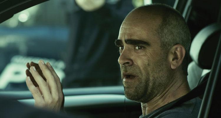 El Desconocido Aka Retribution [2015] Movie Luis Tosar as Carlos in the car facing the police scene