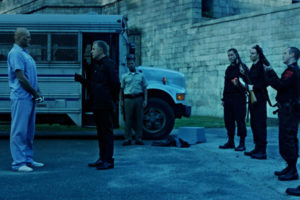 Brawl in Cell Block 99 2017 Vince Vaughn as Bradley Thomas and Don Johnson Warden Tuggs Arrival in prison scene
