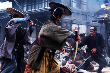 13 Assassins Movie 2010 Sir Doi fighting in the village scene