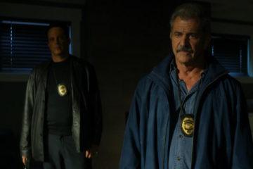 Dragged Across Concrete Movie 2018 Mel Gibson as Brett Ridgeman and Vince Vaughn as Anthony Lurasetti in an ambush