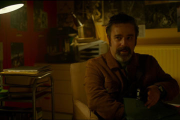 Ghost Stories 2017 Movie Andy Nyman as Professor Goodman talking with Charles Cameron