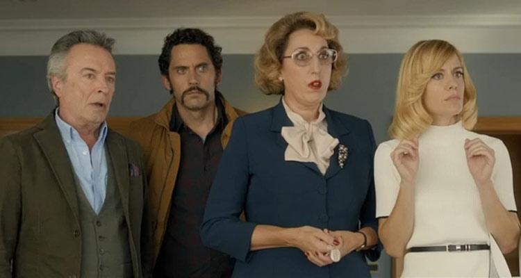Toc Toc 2017 Movie Paco León as Emilio, Oscar Martínez as Federico, Alexandra Jiménez as Blanca and Rossy de Palma as Ana María