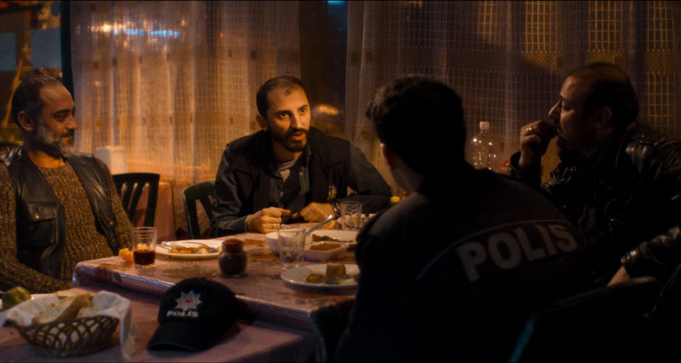 Baskin 2015 Movie Police officers discussing a case