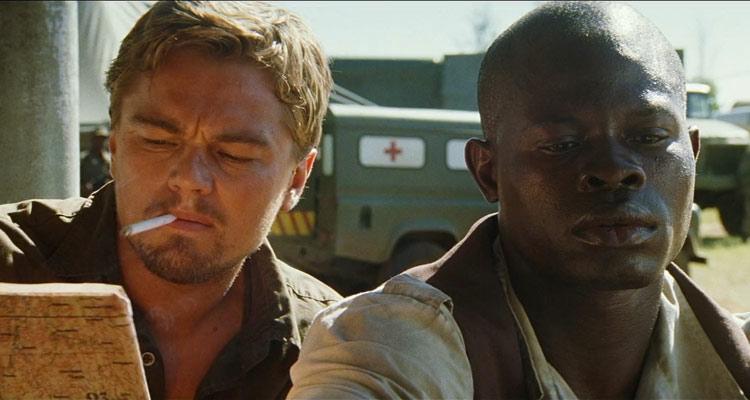 Blood Diamond 2006 Movie Leonardo DiCaprio and Djimon Hounsou