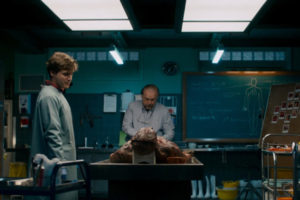 The Autopsy of Jane Doe 2016 Movie Brian Cox and Emile Hirsch in the morgue