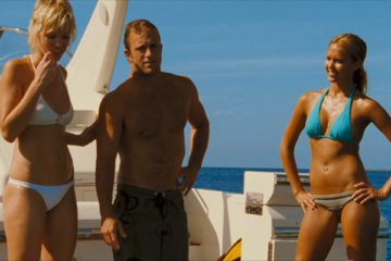Into The Blue 2005 Jessica Alba, Scott Caan and Ashley Scott standing on a boat in their swim suits