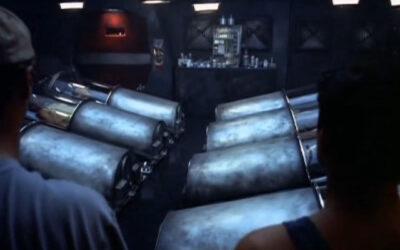 Alien Cargo 1999 Hibernation chambers for hyper sleep onboard the spaceship SSS17