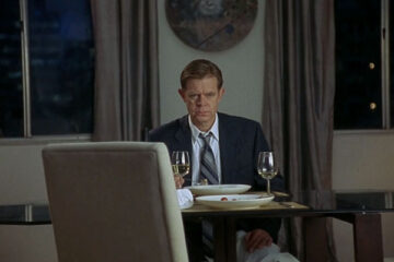 Edmond 2005 Movie William H. Macy at the dinner table thinking