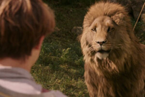 The Chronicles of Narnia The Lion The Witch And The Wardrobe 2005 Movie Aslan and Georgie Henley as the featured image for Movies about Lions list