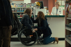 Run 2020 Movie Sarah Paulson and Kiera Allen in a pharmacy