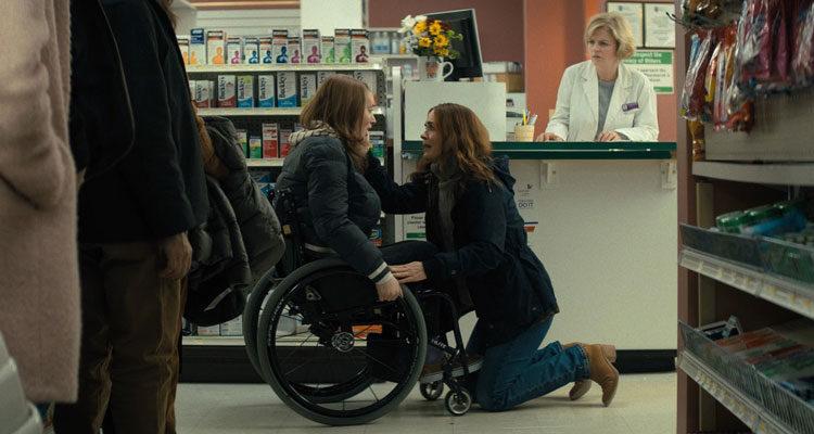 Run 2020 Movie Sarah Paulson and Kiera Allen in a pharmacy