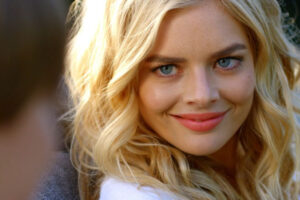 The Babysitter 2017 Movie Samara Weaving as Bee close up smiling and looking beautiful