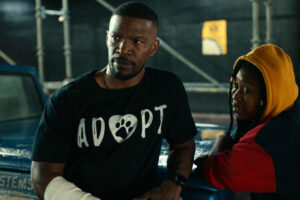 Project Power 2020 Movie Jamie Foxx and Dominique Fishback talking