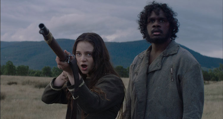 The Nightingale 2018 Movie Aisling Franciosi as Clare and Baykali Ganambarr as Billy