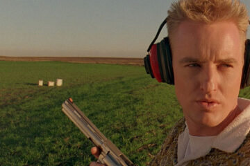 Bottle Rocket 1996 Movie Owen Wilson holding a Colt Anaconda after a shooting practice in a field