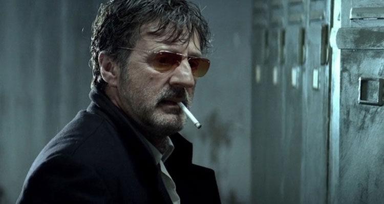 MR 73 AKA The Last Deadly Mission 2008 Movie Daniel Auteuil as Louis Schneider smoking a cigarette