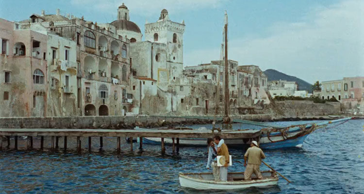 Plein Soleil AKA Purple Noon 1960 Movie The blue sea and picturesque dock with ships