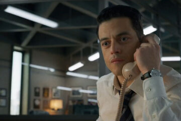 The Little Things 2021 Movie Rami Malek talking on the phone scene