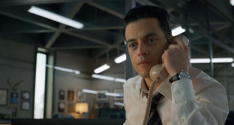 The Little Things 2021 Movie Rami Malek talking on the phone scene