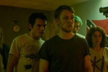 Green Room 2015 Movie Anton Yelchin, Joe Cole, Alia Shawkat, Callum Turner and Imogen Poots