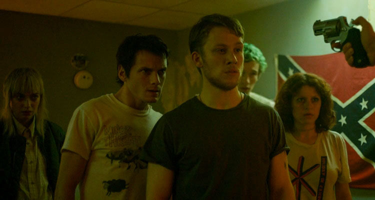 Green Room 2015 Movie Anton Yelchin, Joe Cole, Alia Shawkat, Callum Turner and Imogen Poots