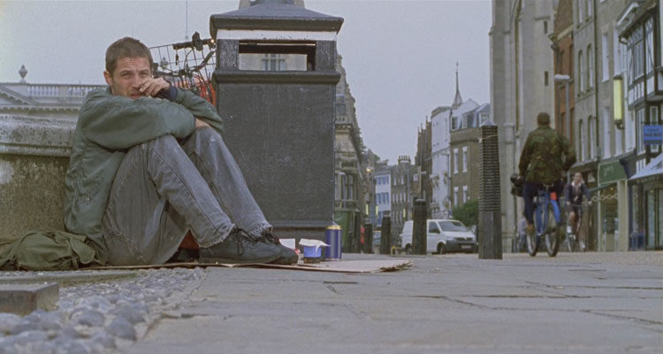 Stuart A Life Backwards 2007 Movie Tom Hardy as Stuart Shorter on the streets of Cambridge