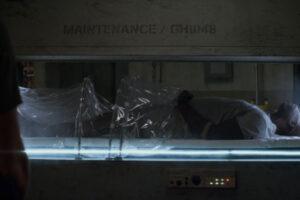 Air 2015 Movie Djimon Hounsou as Cartwright going into hibernation