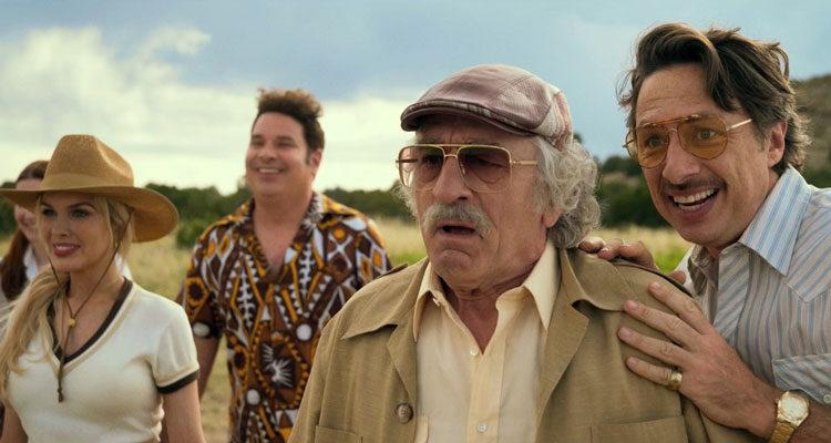 The Comeback Trail 2020 Movie Robert De Niro, Zach Braff and Kate Katzman watching Tommy Lee Jones perform stunts