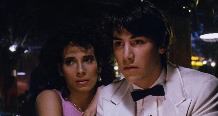 The Night Before 1988 Movie Scene Keanu Reeves and Theresa Saldana