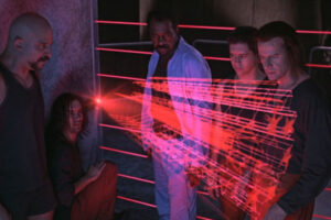 Fortress 1992 Movie Scene Christopher Lambert, Clifton Collins Jr., Jeffrey Combs, Tom Towles and Lincoln Kilpatrick