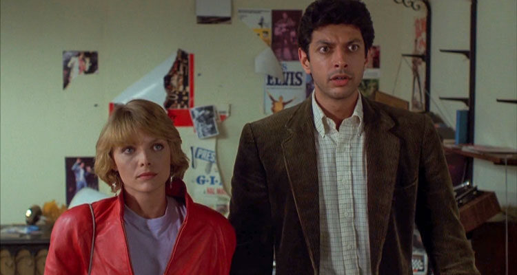 Into the Night 1985 Movie Scene Jeff Goldblum as Ed Okin and Michelle Pfeiffer as Diana