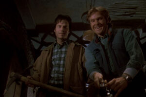 Trespass 1992 Movie Scene Bill Paxton and William Sadler finding the gold in the building