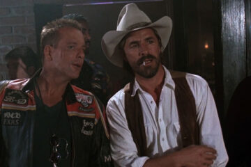 Harley Davidson and the Marlboro Man 1991 Movie Mickey Rourke and Don Johnson in a biker bar