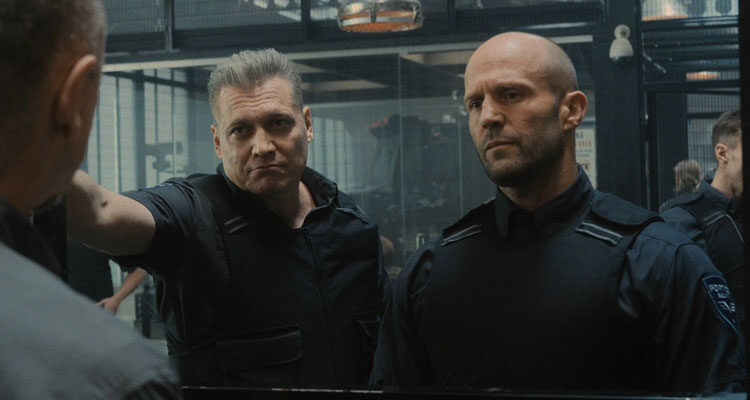 Wrath of Man 2021 Movie Scene Jason Statham and Holt McCallany going on their first job together